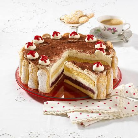 Tiramisu-Kirsch-Torte Rezept