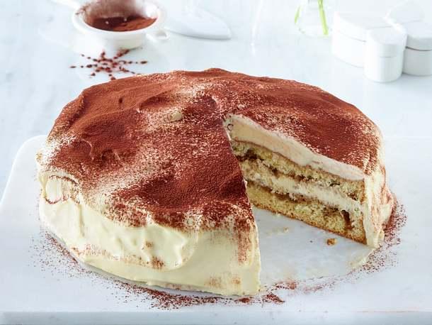 Tiramisu Torte Einfaches Rezept Mit Biskuitboden