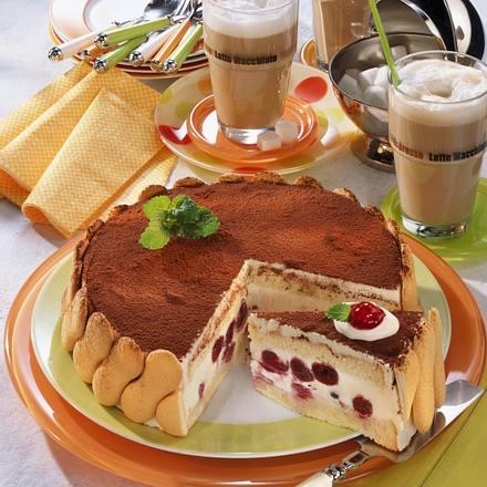 Tiramisu-Torte mit Kirschen Rezept