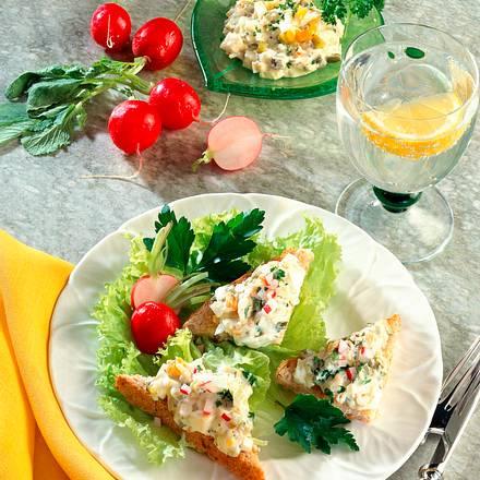 Toastecken mit Gemüse-Remoulade Rezept