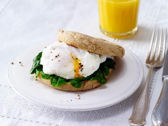 Toasties mit pochiertem Ei und Spinat Rezept