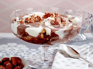 Toblerone-Pudding mit gebrannten Mandeln Rezept