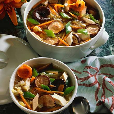 Tofu-Gemüse-Suppe Rezept