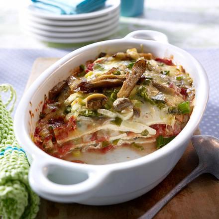 Tofu-Lasagne mit Pilzen Rezept