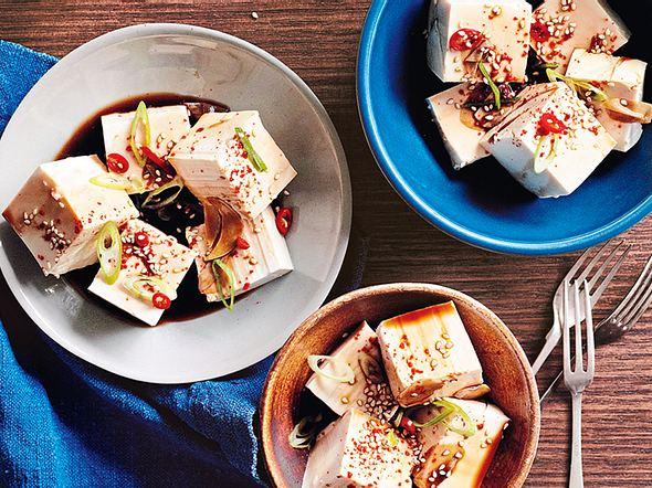 Süßsaure Tofuhäppchen Rezept