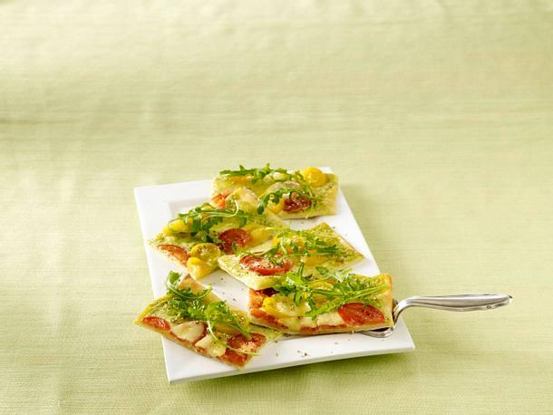 Tomate-Mozzarella-Flammkuchen Rezept