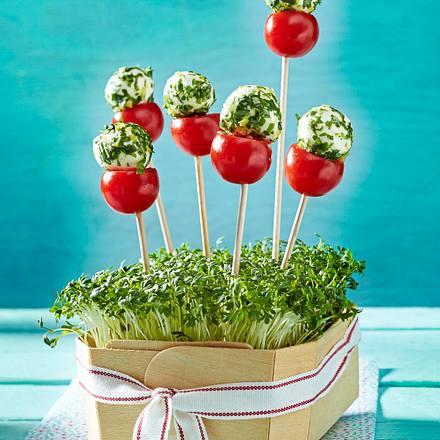 Tomate-Mozzarella-Lollis Rezept