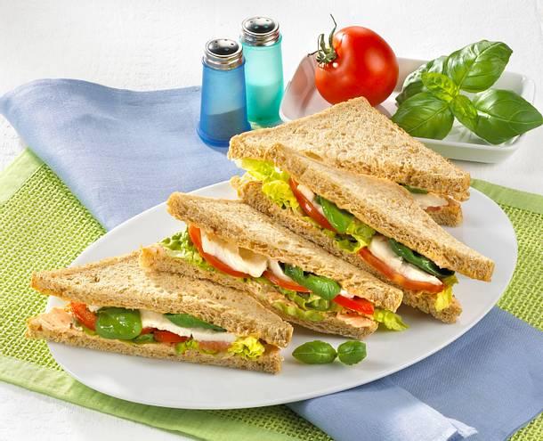 Tomate-Mozzarella-Sandwich Rezept