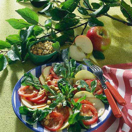 Tomaten-Apfelsalat Rezept