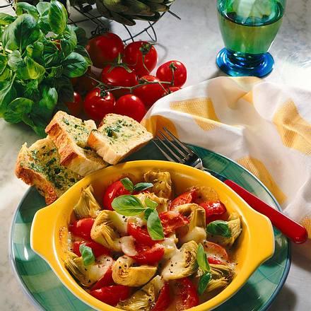 Tomaten-Artischocken- Pfännchen Rezept