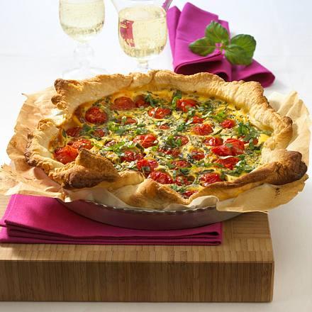 Tomaten-Basilikum-Tarte Rezept