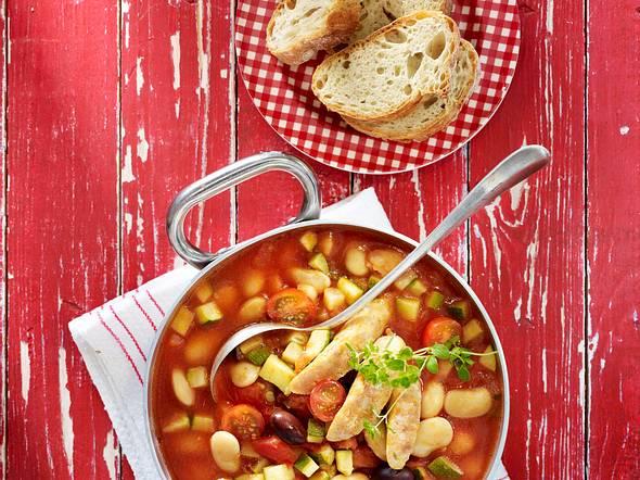 Tomaten-Bohnen-Eintopf mit Salsicce Rezept
