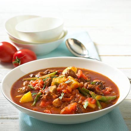 Tomaten-Bohnen-Gulasch Rezept