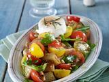 Tomaten-Brot-Salat mit Ziegenkäse Rezept