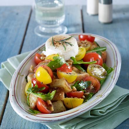 tomaten brot salat mit ziegenk se rezept chefkoch rezepte auf kochen backen und. Black Bedroom Furniture Sets. Home Design Ideas