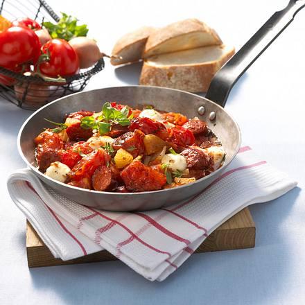 Tomaten-Cabanossi-Pfanne Rezept