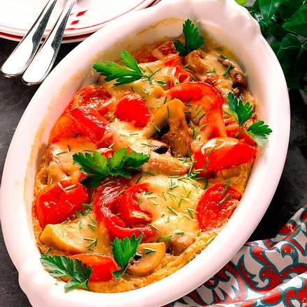 Tomaten-Champignon- Auflauf Rezept