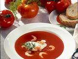 Tomaten-Creme-Suppe mit Krabben Rezept