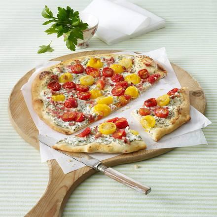 Tomaten-Flammkuchen Rezept