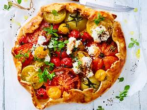 Tomaten-Galette mit Ziegenfrischkäse Rezept