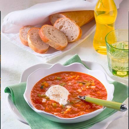 Tomaten-Gemüse-Suppe Rezept