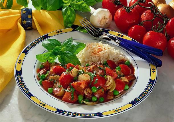 Tomaten-Geschnetzeltes mit frischem Basilikum Rezept