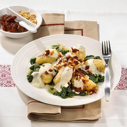 Tomaten-Gnocchi zu Spinat Rezept