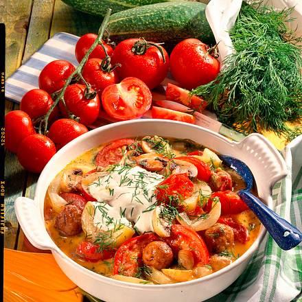 Tomaten-Gurken-Pfanne Rezept