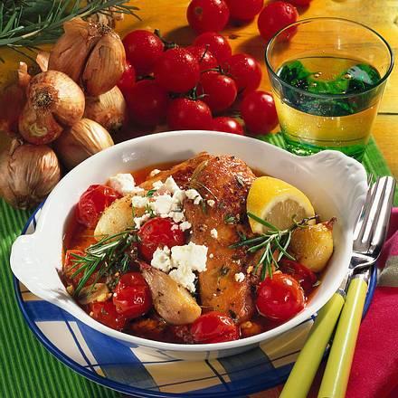 Tomaten-Hähnchen mit Feta-Käse Rezept