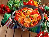 Tomaten-Hähnchen-Schmorpfanne Rezept