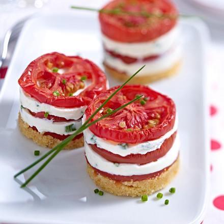 Tomaten-Käse-Türmchen Rezept