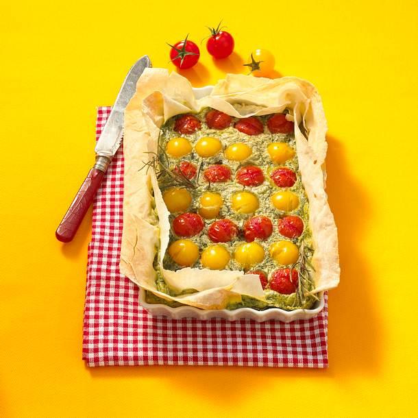 Tomaten-Kräuterquiche Rezept