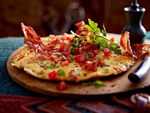 Tomaten-Lauchzwiebel-Omelett Rezept