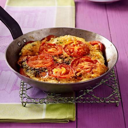 Tomaten-Mozzarella-Omelett Rezept