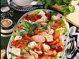 Tomaten-Mozzarella-Platte mit mit Balsamico-Vinaigrette Rezept