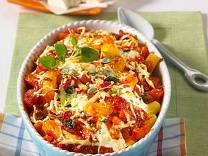 Tomaten-Nudelauflauf mit Schafskäse Rezept