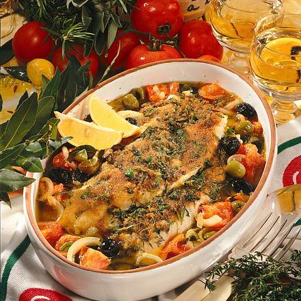 Tomaten-Oliven-Fisch Rezept