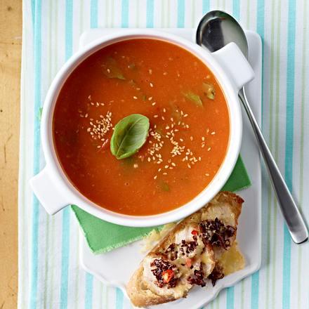 Tomaten-Orangen-Ingwer-Suppe Rezept