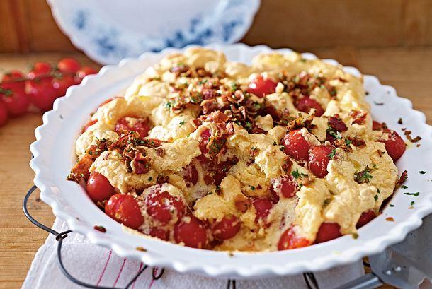 Tomaten-Parmesan-Clafoutis Rezept