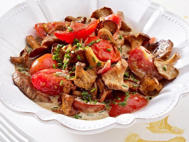 Tomaten-Pfifferlings-Ragout mit Schweinefilet Rezept