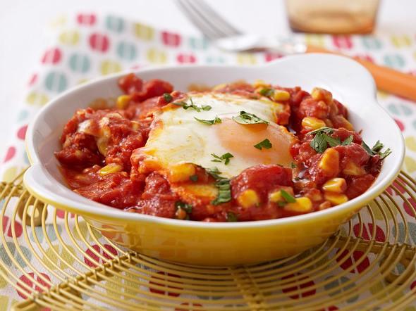 Tomaten-Shakshuka mit Mais Rezept
