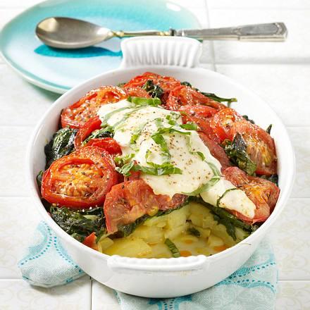 Tomaten-Spinatauflauf Rezept