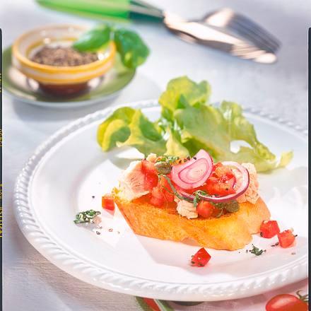 Tomaten-Thunfisch-Crostini Rezept