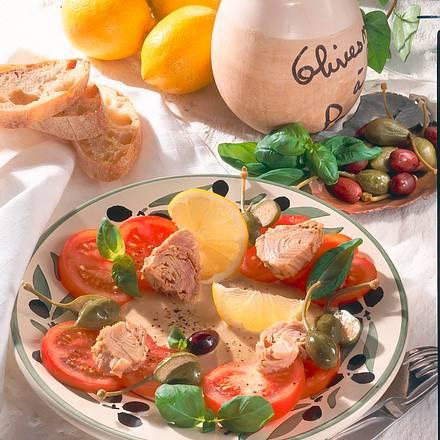 Tomaten-Thunfisch-Teller Rezept
