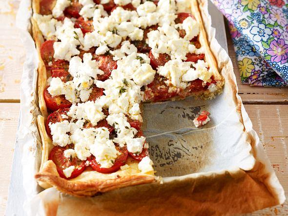Tomaten-Ziegenkäse-Tarte Rezept