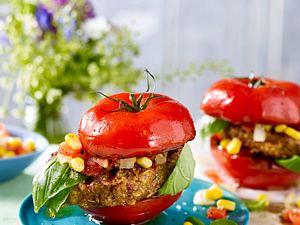 Tomatenburger mit Grünkern Rezept