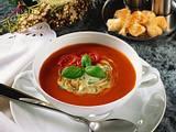 Tomatencremesuppe mit Kräutern Rezept