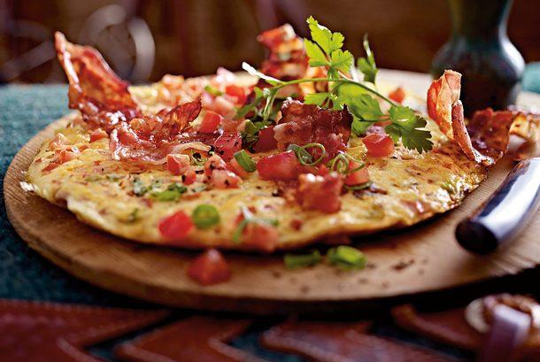 Tomatenomelett mit Bacon Rezept