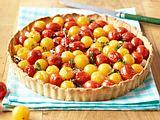 Tomatenquiche mit Balsamico-Zwiebeln Rezept