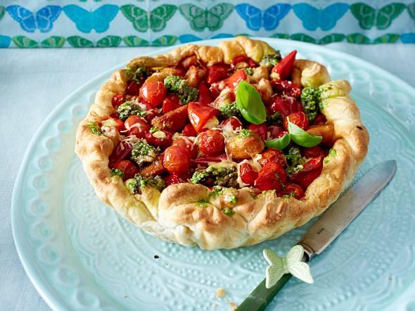Tomatenquiche mit Cashew-Pesto Rezept